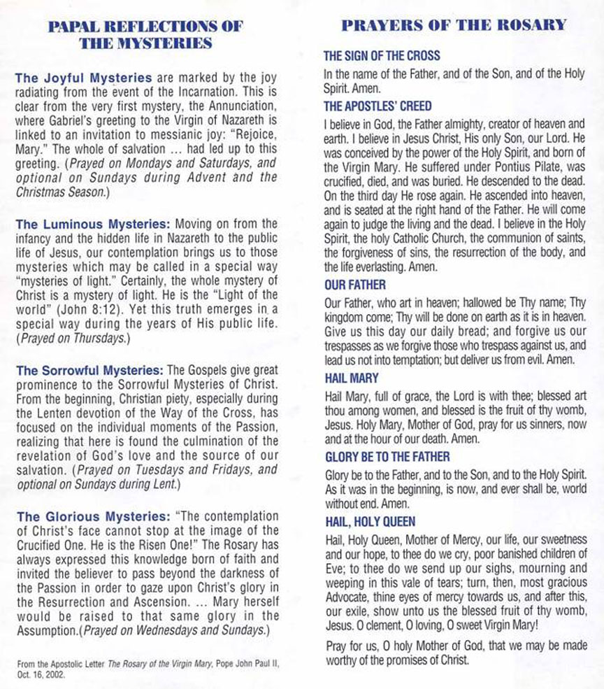 Basic rosary guide for learning how to pray the rosary roman.